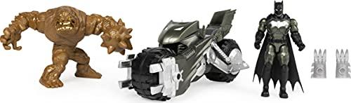 Batman Bat-Fahrzeug-Spielset mit 10cm-Actionfiguren von Batman und Bösewicht