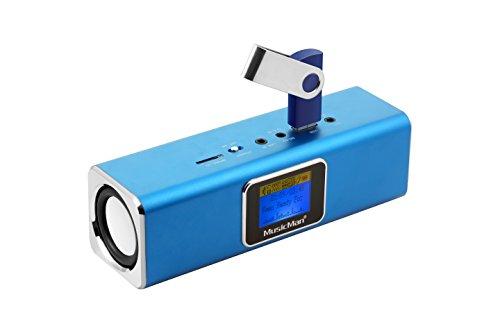 Musicman MA Soundstation Stereo-Lautsprecher mit integriertem Akku und LCD Display (MP3 Player, Radio,...