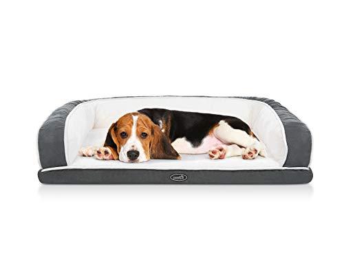 Pecute Haustier Sofa (89x56x18cm), Orthopädisches Eck Hundebett, Couch Hundebett Hundekorb, Ergonomische...