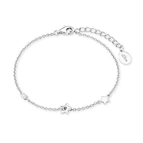 s.Oliver Armkette für Damen, Sterling Silber 925, Zirkonia Stern