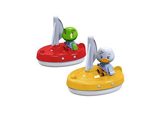 AquaPlay 8700000254 - 2 Segelboote + 2 Figuren - Zubehör für AquaPlay Wasserbahnen oder für die...