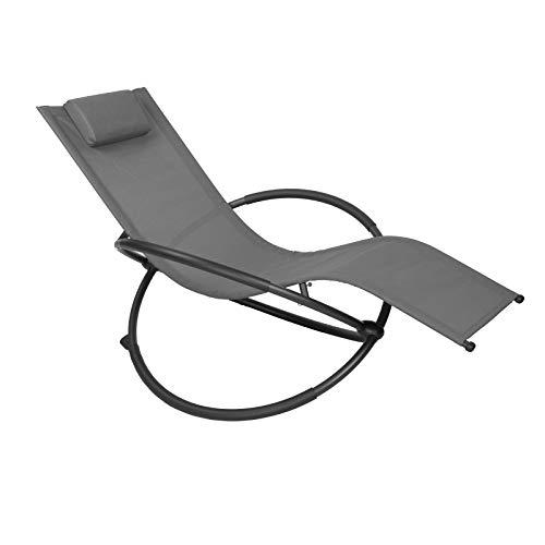 WOLTU Sonnenliege Gartenliege Schwingliege klappbare Relaxliege Liegestuhl, bis 160KG belastbar,...