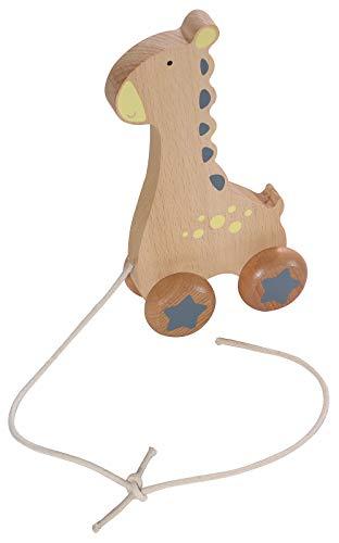 Kindsgut Holz-Ziehtier, Nachzieh-Tier für Babys und Kleinkinder, Spiel-Spaß aus Holz in dezenten Farben...