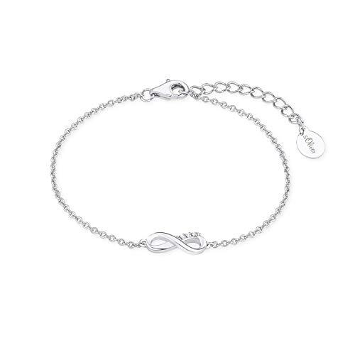 s.Oliver Armband für Damen, Sterling Silber 925, Zirkonia Infinity
