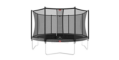 BERG Favorit Trampoline Regular 430 cm grau + Safety Net Comfort | Premium Trampolin, Hohe Qualität...