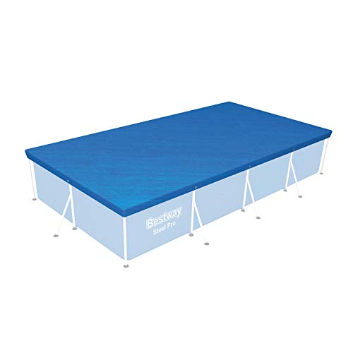 Bestway Flowclear™ PE-Abdeckplane, 224 x 154 cm, für eckige 221 x 150 cm Steel Pro™ Pools, blau