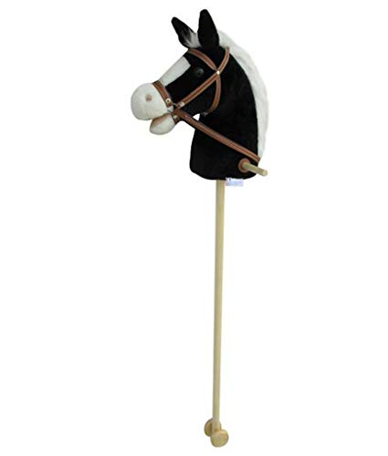 Sweety Toys 5093 Steckenpferd BLACKY super-süss ,Farbe schwarz mit weißer Mähne -sehr edel- mit...
