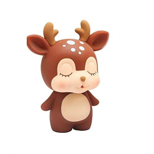 SUPVOX Deer Sparschwein Kids Money Bank Spardose Desktop Ornamente (Kaffee)