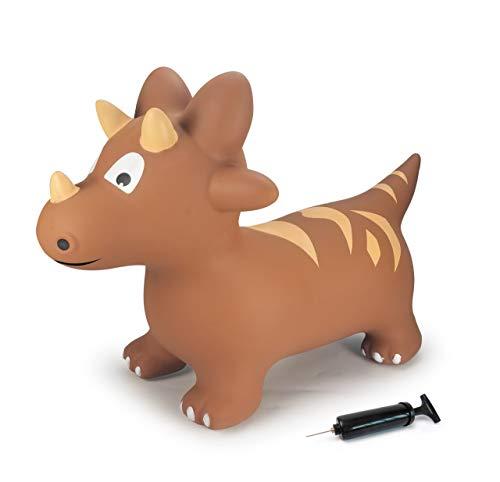 JAMARA 460591 - Hüpftier Dino mit Pumpe - BPA-Frei, bis 50 kg, fördert den Gleichgewichtssinn & die...