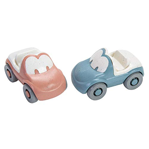 Dantoy Tiny Fun Autos BioPlastic, 90% Zuckerrohr, spülmaschinenfest, ab 6+ Monaten, hellblau/rosa,...
