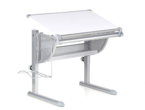 hjh OFFICE 705100 Kinderschreibtisch Belia Schreibtisch höhenverstellbar, Tischplatte neigbar,...