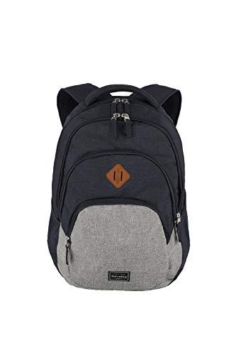 travelite Rucksack Handgepäck mit Laptop Fach 15,6 Zoll, Gepäck Serie BASICS Daypack Melange: Modischer...