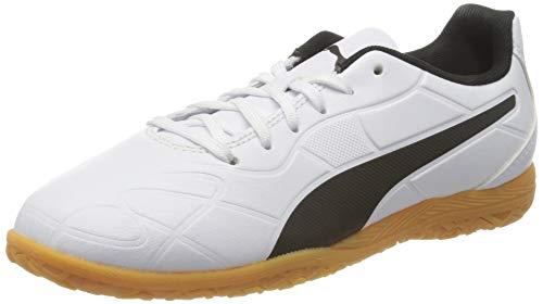 PUMA Monarch IT Jr Fußballschuh, White Black-Gum, 33 EU