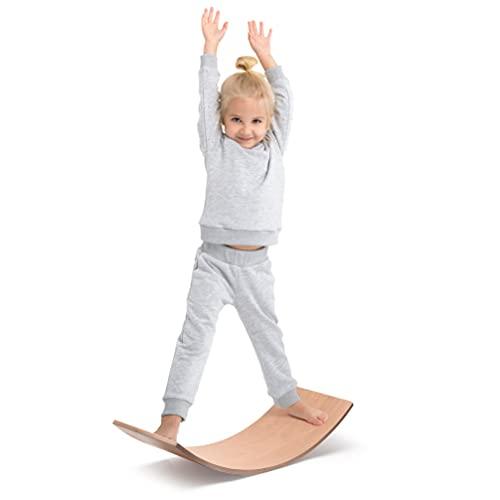 Milliard Waldorf Balance Board/Balancierbrett aus Holz, Montessori Wobble Board für Kinder und...