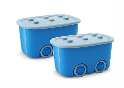 2x Aufbewahrungskisten Spielzeugkisten Aufbewahrungsboxen Funny