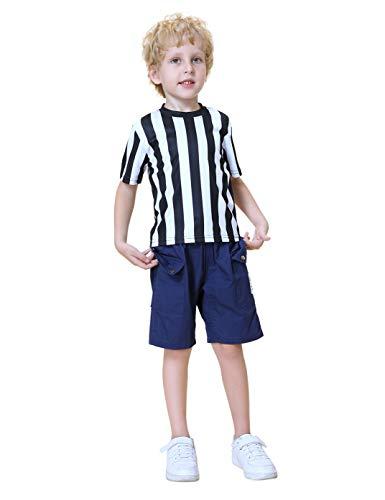 TOPTIE Kinder Schiedsrichter Shirt Anzug Kinder Referenz Uniform für Fußball Fußball Basketball