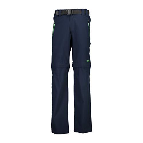 CMP Jungen Dry Function Trousers Zip Off Wanderhose, Black Blue-aloe, 164 EU