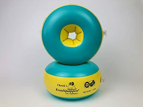 Kraulquappen Cherek´s Anfänger grün/gelb Schwimmflügel für Kinder Babys ab dem 8 Monat bis 30kg,...
