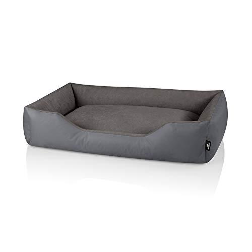 BedDog® Hundebett Zara, Hundesofa aus Cordura, Microfaser-Velours, waschbares Hundebett mit Rand,...