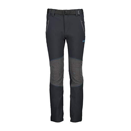 CMP Jungen Stretch Long Trousers Hose, Anthracite-Light Blue, 140