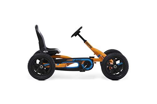 Berg Pedal Gokart Buddy B-Orange | Kinderfahrzeug, Tretauto mit Optimale Sicherheid, Luftreifen und...