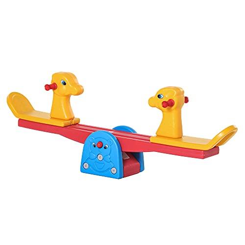 HOMCOM Kinder Gartenwippe Wippe mit Hirschform Kinderwippe Karussellwippe für 1-4 Jahre Kinder...