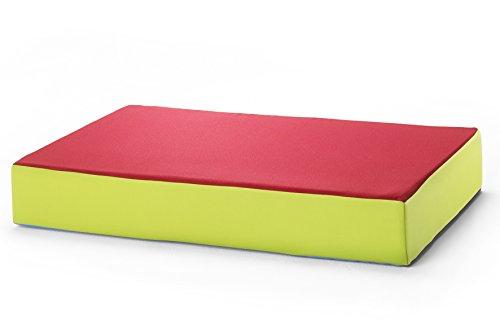 Hüpfmatratze für alle kleinen und großen Hüpfer 130x90x25cm rot/grün