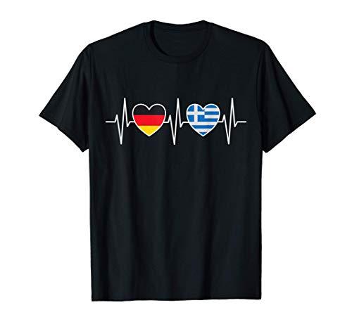 Deutschland und Griechenland Griechisch Hellas Fahne Flaggen T-Shirt