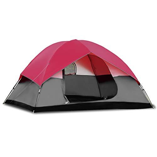 COSTWAY Campingzelt 5-6 Personen Familienzelt Kuppelzelt für Wandern, Camping im Freien, Wurfzelt...