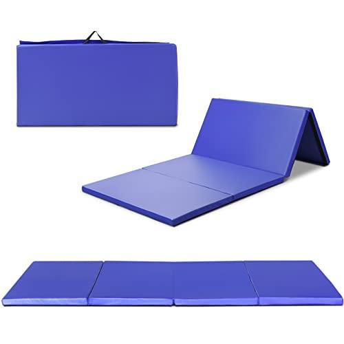COSTWAY Weichbodenmatte 240x120x5cm | Gymnastikmatte klappbar | Yogamatte groß | Turnmatte | Klappmatte...