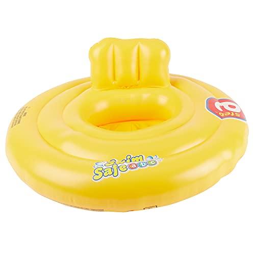 Bieco Schwimmring Baby Schwimmhilfe Gelb | Aufblasbar Baby Schwimmring ab 3 Monate | Baby-schwimmreifen |...