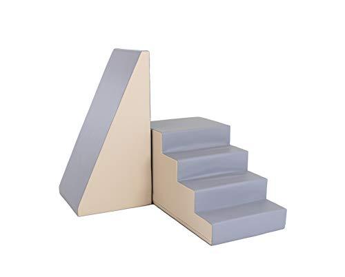 IGLU XXL Softbausteine Riesenbausteine Treppe und Rutsche - Anti-Rutsch