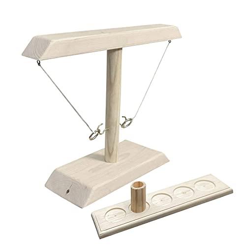 Toss Haken und Ring Spiel,Tik Tok Hook & Ring Toss Battle Game,Table Ringwurfspiel zum Party Spiel für...
