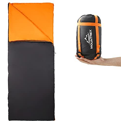 MOUNTREX® Schlafsack - Kleines Packmaß & Ultraleicht (730g) Sommer Deckenschlafsack - Outdoor...