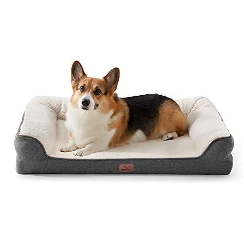Bedsure orthopädische Hundebett große Hunde - Hundesofa mit Memory Foam, kuschelig Schlafplatz in...