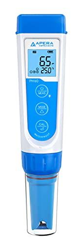 Apera Instruments PH60 Premium pH-Meter (Genauigkeit pH ±0,01, Messbereich pH -2,0-14,0, austauschbare...