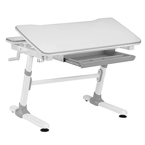 HOKO® Ergo-Work-Table Study COMPAKT. Manuell höhenverstellbar Kinder-Schreibtisch mit Verstellbarer...