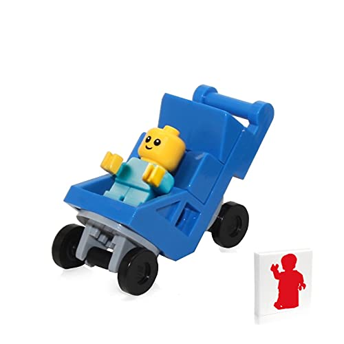 LEGO Town City Minifigure - Baby in Blue Stroller (60204)