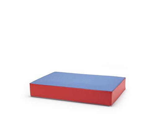 traturio Hüpfmatratze für alle kleinen und großen Hüpfer 130x90x25cm (Jeansblau/rot)