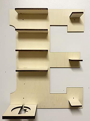 DIY Regal Buchstabe A-Z für die Musikbox passend für Toniebox Kinder Baby Zimmer zum selbst bemalen mit...