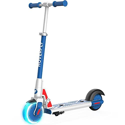 Elektro Scooter für Kinder, HOVERFLY GKS LUMIOS 150W Elektroroller für Kinder 6-12, LED...
