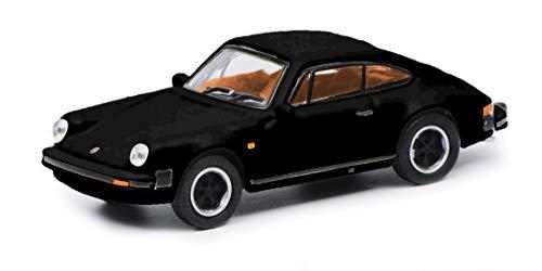 Schuco 452656300 Porsche 911 3.2, Carrera, Coupé Version, mit braunem Interieur, Modellauto, Maßstab...