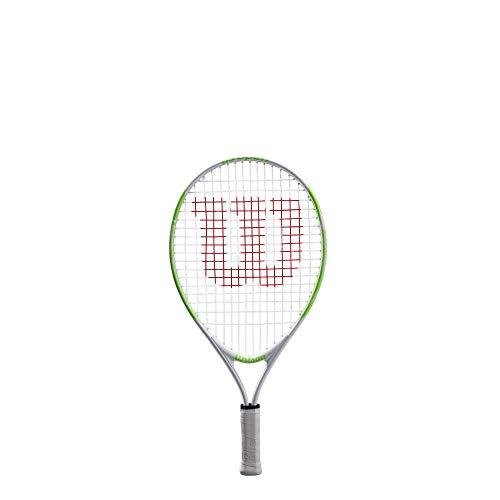 Wilson Kinder US Open 19 Tennisschläger, WEIß/GRÜN, Kindergröße: Bis 100 cm