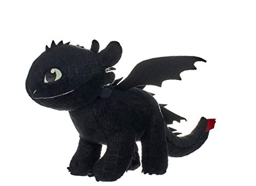 Unbekannt Drachenzähmen 12433 How to Train Your Dragon 3' Toothless Soft Toy with Features-32cm Plüsch...