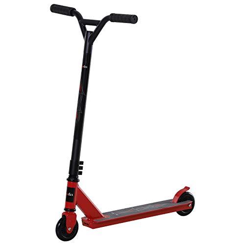 HOMCOM Pro Stunt Scooter, Tretroller, Freestyle Tricks, mit 100mm PU-Rädern, für Kinder und Erwachsene,...