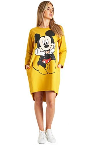 Disney Minnie & Mickey Mouse Damen Hoodie, Pullover Langarm Sweatshirtkleid für Frauen und Teens, Cute...
