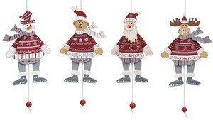 Wurm Hampelmann Weihnachtsfigur 4er-Set