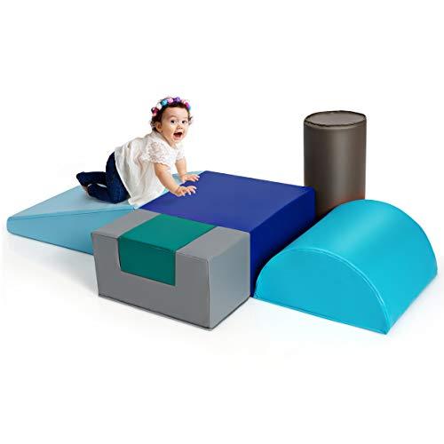GOPLUS Schaumstoffbausteine 6 Stück, Riesenbausteine aus Schuamstoff, Spielsteine für Klettern und...