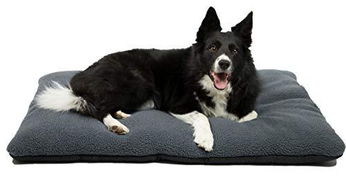 ZOLLNER Hundebett Hundekissen, 67x90 cm, waschbar, grau, Antirutschnoppen