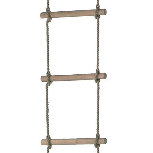 WICKEY Strickleiter 6 Sprossen schwer Trittleiter Turngerät Holz Hängeleiter, ca. 210cm